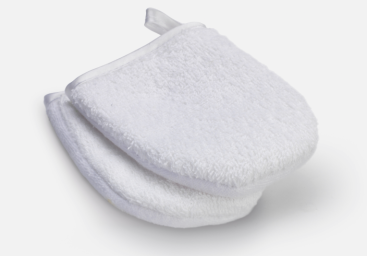 Mitts were used during the double phase cleansing step. Probably one of the best mitts I have used and still currently using.